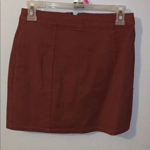 Zip up skirt. Perfect for fall colors